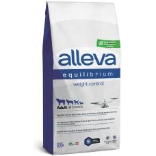 ALLEVA® Equilibrium Weight Control All Breeds - пълноценна храна за пораснали кучета над една година, от всички породи с пилешко месо и риба, подходяща за контрол на теглото, Италия - 12 кг P6014/314