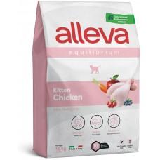 ALLEVA® Equilibrium Chicken Kitten - пълноценна храна за подрастващи котета, както и за бременни и лактиращи кoтки, Италия - 1,5 кг P61014