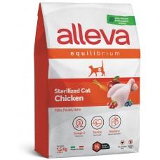 ALLEVA® Equilibrium Sterilized Chicken Adult - пълноценна храна за пораснали кастрирани котки, с пилешко месо, Италия - 1,5 кг P61064
