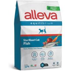 ALLEVA® Equilibrium Sterilized Fish Adult - пълноценна храна за пораснали кастрирани котки, с риба, Италия - 1,5 кг P61074