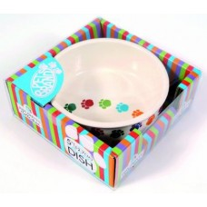 Pet Brands Paw Prints Ceramic - Луксозна керамична купа за храна или вода 15.2 см - PPC3