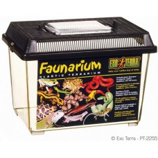 Exo Terra FAUNARIUM / ALL-PURPOSE TERRARIUM - пластмасов универсален терариум за влечуги, земноводни, мишки, паякообразни и насекоми, 23 x 15,5 x 17 см, ГЕРМАНИЯ - PT2255
