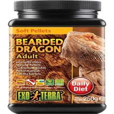 Exo Terra SOFT PELLETS - BEARDED DRAGON - Adult - храна за пораснали агами, меки гранули - 250 g - ГЕРМАНИЯ - PT3217