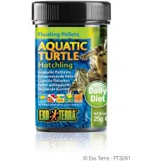 Exo Terra Floating Pellets - Hatchling Aquatic Turtle, храна за новородени водни костетурки - 25 гр - ГЕРМАНИЯ - PT3241