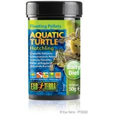 Exo Terra Floating Pellets - Hatchling Aquatic Turtle, храна за новородени водни костетурки - 50 гр - ГЕРМАНИЯ - PT3242