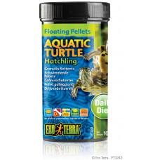 Exo Terra Floating Pellets - Hatchling Aquatic Turtle, храна за новородени водни костетурки - 105 гр - ГЕРМАНИЯ - PT3243