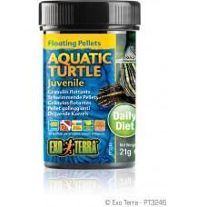 Exo Terra Floating Pellets - Juvenile Aquatic Turtle, храна за подрастващи водни костетурки - 21 гр - ГЕРМАНИЯ - PT3246