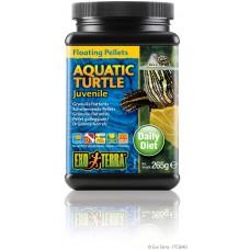 Exo Terra Floating Pellets - Juvenile Aquatic Turtle, храна за подрастващи водни костетурки - 265 гр - ГЕРМАНИЯ - PT3249