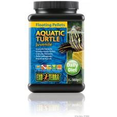 Exo Terra Floating Pellets - Juvenile Aquatic Turtle, храна за подрастващи водни костетурки - 560 гр - ГЕРМАНИЯ - PT3250