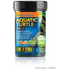 Exo Terra Floating Pellets - Adult Aquatic Turtle, храна за пораснали водни костетурки - 21 гр - ГЕРМАНИЯ - PT3251