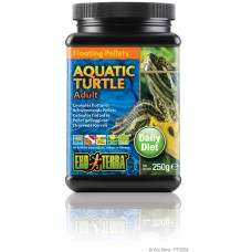 Exo Terra Floating Pellets - Adult Aquatic Turtle, храна за пораснали водни костетурки - 250 гр - ГЕРМАНИЯ - PT3254