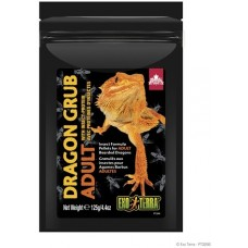Exo Terra Dragon Grub Insect Formula Pellets for Adult Bearded Dragons - храна базирана на насекоми, 125 гр - ГЕРМАНИЯ - PT3266