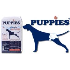 PUPPIES ПАМПЕРС ГАЩИ ЗА КУЧЕ L Подходящи за кучета с тегло от 16 до 25 кг и талия 50-68 см - 12 бр