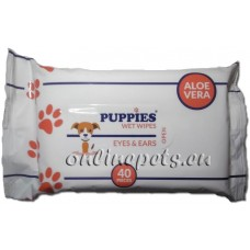 Puppies EYES & EARS - мокри кърпички за очи и уши 15 / 20 см - 40 броя