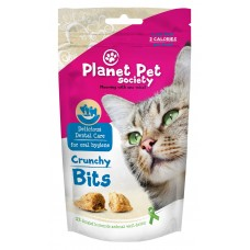 Planet Pet Society Crunchy Bits for dental care - деликатесно лакомство за здрави и бели зъби 40 грама