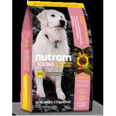 S10 Nutram Sound Balanced Wellness® Senior Natural Dog Food, Рецепта с Пиле, Овес и цяло Яйце, за възрастни кучета от всички породи над 7 години, Канада - 13,6 кг