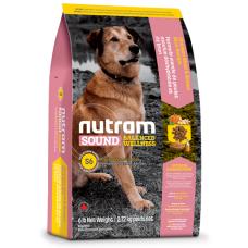S6 Nutram Sound Balanced Wellness® Adult Natural Dog Food, Рецепта с пиле, кафяв ориз, грах и тиква, за пораснали кучета от 1 до 10 години, Канада - 13.6 кг