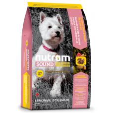 S7 Nutram Sound Balanced Wellness® Small Breed Adult Natural Dog Food, Рецепта Пиле, Кафяв Ориз, Грах и Моркови, за пораснали кучета мини породи от 1 до 10 години, Канада - 2,72 кг