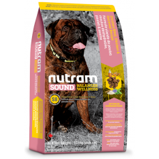 S8 Nutram Sound Balanced Wellness® Large Breed Adult Natural Dog Food, Рецепта с пиле, овес и моркови, за пораснали кучета от ЕДРИТЕ породи от 1 до 10 години, Канада - 13.6 кг