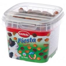 Bites SANAL Cat Fiesta Mix - с пиле, пуйка и патица, 75 гр, Холандия SC1577