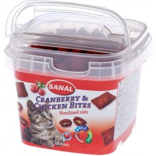 Bites SANAL Cat Cranberry & Chicken - с боровинки и пилешко месо за кастрирани котки, 75 гр, Холандия SC1578