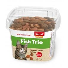 Bites SANAL Cat Fish Trio - сьомга, пъстърва и скариди, 75 гр, Холандия SC1590