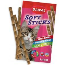Softsticks SANAL Cat Salmon & Trout - меки пръчици със сьомга и пъстърва, 3 бр, Холандия SC3830