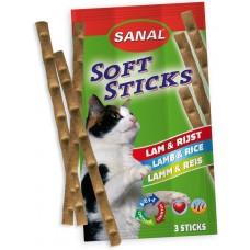 Softsticks SANAL Cat Lamb & Rice - меки пръчици с агне и ориз, 3 бр, Холандия SC3850
