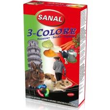 Дропс SANAL Rodent 3-Colore - с йогурт, зеленчуци и моркови, 45 гр, Холандия SK7250