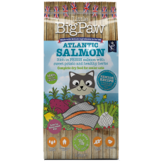 Little BigPaw Senior Salmon - пълноценна супер премиум храна с месо от сьомга, за котки над 7 годишна възраст или с наднормено тегло 1,5 кг, Англия - SNR01