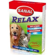 Relax SANAL Dog/Cat 100% натурални aнтистрес таблетки за кучета, котки и гризачи - 15 таблетки, Холандия SV5021