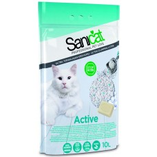 Sanicat Active - антибактериална бентонитова котешка тоалетна с активен кислород 10 литра