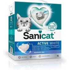 Sanicat Active White Natural - котешка тоалетна висококачествен бял бентонит - натурална - 10 литра