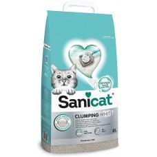 Sanicat Clumping White - чист и свеж бял натурален бентонит, обогатен с кислород 20 литра