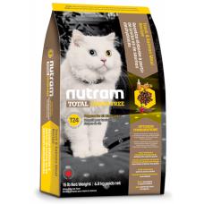 T24 Nutram Total Grain-Free® Trout and Salmon Meal Recipe Cat Food, Натурална котешка рецепта БЕЗ зърно с Пъстърва и Сьомга, Приготвена за котки и котенца 6.8 кг