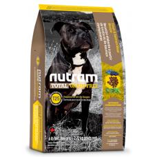 T25 Nutram Total Grain-Free® Salmon & Trout Recipe Natural Dog Food, Натурална кучешка рецепта БЕЗ зърно с Сьомга и Пъстърва, Приготвена за всички стадии на живота, Канада - 11,34 кг