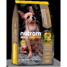 T28 Nutram Total Grain-Free® Salmon & Trout Natural Dog Food, Натурална кучешка рецепта БЕЗ зърно със Сьомга и Пъстърва, за малките и дребни породи, за всички стадии на живота 2.72 кг