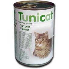 TUNICAT - РИБА ТОН И КАЛМАРИ - пълноценна консерва за котки, Испания - 400 гр