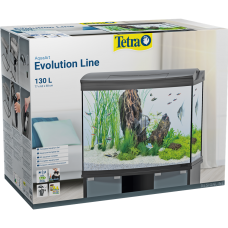 Tetra AquaArt Evolution Line LED anthracite 130 L - оборудван аквариум 77 x 62 x 38 cm