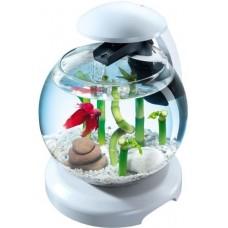Tetra Cascade Globe БЯЛ - стъклена колба с филтър - лесна за настройка и поддръжка - 6,8 литра