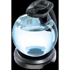 Tetra Duo Waterfall Globe ЧЕРЕН - стъклена колба с хармоничен ефект на водопад - лесна за настройка и поддръжка - 6,8 литра