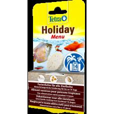 Tetra Holiday Menu - хранителният блок с гел осигурява на рибите до 14 дни хранене, съдържа 3 различни вида храна плюс други основни хранителни вещества