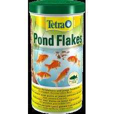Tetra Pond Flakes - пълноценен микс на люспи, идеална храна всички малки и млади риби в градински водоеми, осигурява всестранно, балансирано хранене - 1 литър