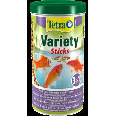 Tetra Pond Variety Sticks - пълноценна хранителна смес за всички езерни риби, съдържаща три различни пръчици за разнообразие, осигурява цялостно, биологично балансирано хранене