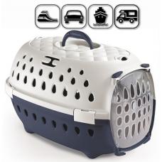 CHIC - транспортна чанта за кучета и котки, с процеп за колан, 50 x 34,5 x 32Н см - STEFANPLAST Италия