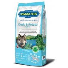 WinnerPlus Duck & Potato holistic - холистична храна с патешко месо и картофи, подходяща за чувствителни кучета от всички породи и на всички възрасти, БЕЗ ЗЪРНО, за всички породи, Германия - 12 кг