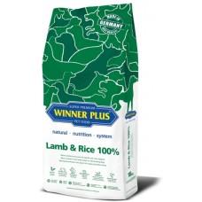 WinnerPlus Super Premium Lamb & Rice - пълноценна храна за пораснали кучета от всички породи, подходяща за чувствителни или алергични кучета, Германия - 18 кг