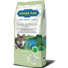 WinnerPlus Lamb & Potato holistic - холистична храна за пораснали чувствителни кучета БЕЗ ЗЪРНО, за всички породи, Германия - 12 кг