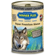 WinnerPlus Super Premium Menu Sensitive Light - консерва с пиле и картофи е пълноценна храна за кучета от всички породи, Германия - 400 гр