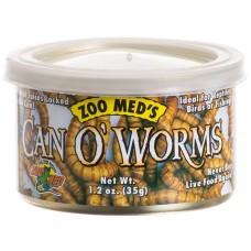 Zoo Med Can'O Worms - консервирани брашнени червеи 35 гр. (300 бр)